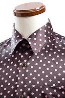 水玉柄シャツ