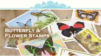butterfry&flower stamps