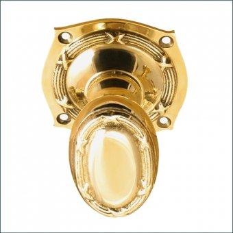 >真鍮製 アンティークデザインのドアノブ オーバル DN1