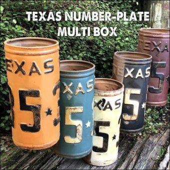 -在庫限り。アメリカンジャンクな小物入れ。テキサスナンバープレートマルチボックス