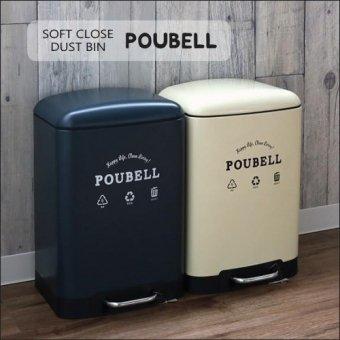 -在庫限り ゆっくり静かに閉まるダストビンPOUBELL(12リットル)ゴミ箱 ダストボックス