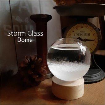 _ストームグラス<ドーム>水晶玉のようなサイエンスインテリア(気象予報計)