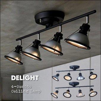 :送料無料!インダストリアルデザイン Delight 4-remote ceiling lamp デライト4リモートシーリングランプ(リモコン付き)<img class='new_mark_img2' src='https://img.shop-pro.jp/img/new/icons61.gif' style='border:none;display:inline;margin:0px;padding:0px;width:auto;' />