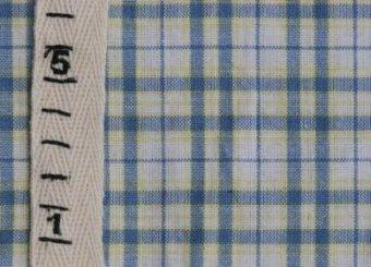ホームスパン生地15<ブルー×イエローライン>