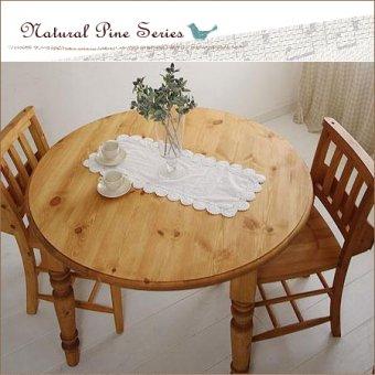 lナチュラルパインのラウンドテーブル(W1050)