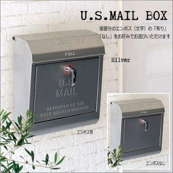 .U.S.MAILBOX アメリカンなメールボックス(ポスト)ハンドルタイプ キー付き