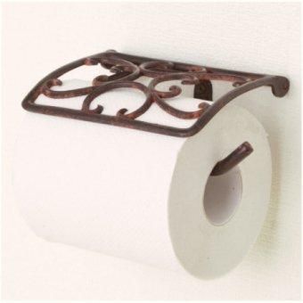 _真鍮製トイレットペーパーホルダー(ラステッククローバー)