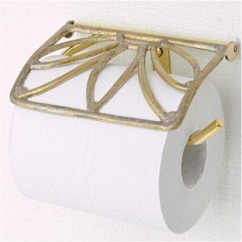 _真鍮製トイレットペーパーホルダー(ゴールドリーフ)