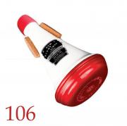 ニューストンライン : トランペット・シンフォニック・ストレ−ト アルミ ホワイトアンドレッド ミュート【106】