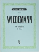 【訳アリ特価】 ヴィーデマン:45の練習曲(オーボエ エチュード) ブライトコプフ出版