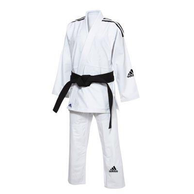 アディダス adidas 柔術着 レスポンセ2.0  ホワイト 3本ライン(白帯付き)