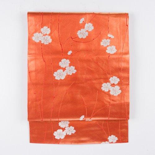 赤柿色の地 白い小花のサムネイル画像