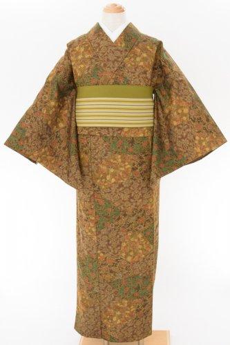 単ウール●茶 小花など 更紗のサムネイル画像