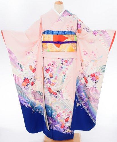 振袖 きらきらの波に鶴のサムネイル画像