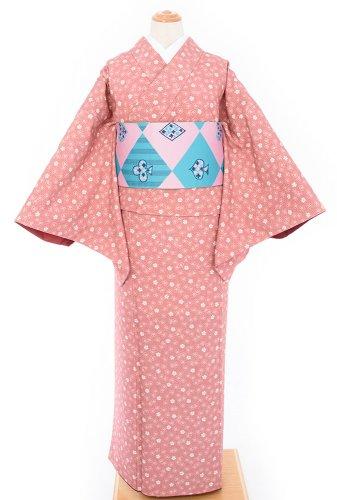 2点セット*ピンク地に桜ドット トランプ柄の半幅帯のサムネイル画像