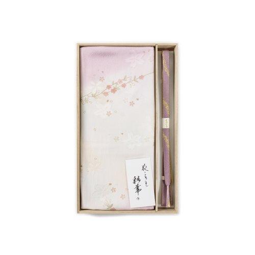 帯揚げ帯締めセット 桜の枝と花のサムネイル画像