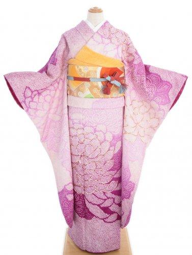 振袖 総絞り 大輪の菊花のサムネイル画像