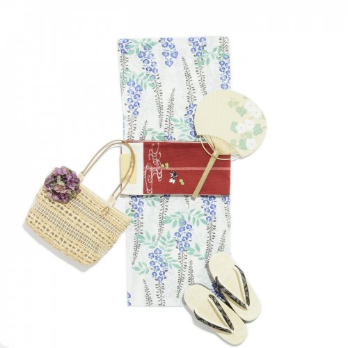 新品浴衣 藤の花のサムネイル画像