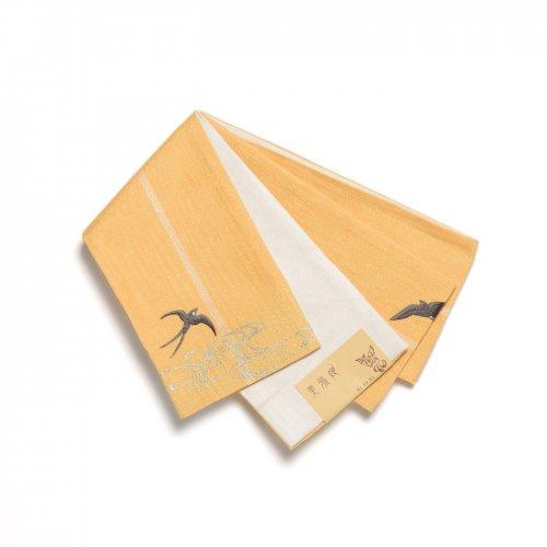 半幅帯 黄色地×ツバメのサムネイル画像