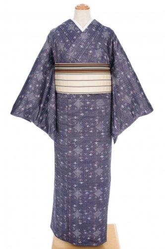 単衣●紬 菱と燕 絣柄のサムネイル画像