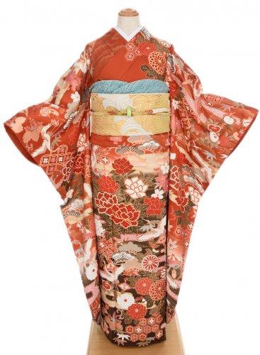 振袖 四季の花と鶴のサムネイル画像