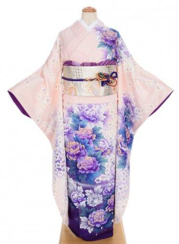 振袖 白梅と紫牡丹のサムネイル画像