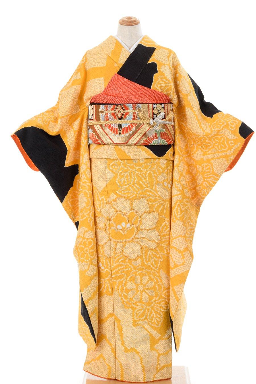 「振袖 総絞り 菊と牡丹」の商品画像