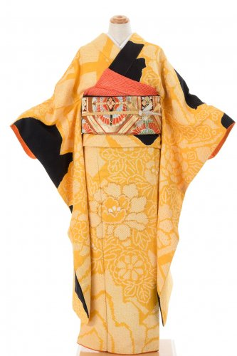 振袖 総絞り 菊と牡丹のサムネイル画像