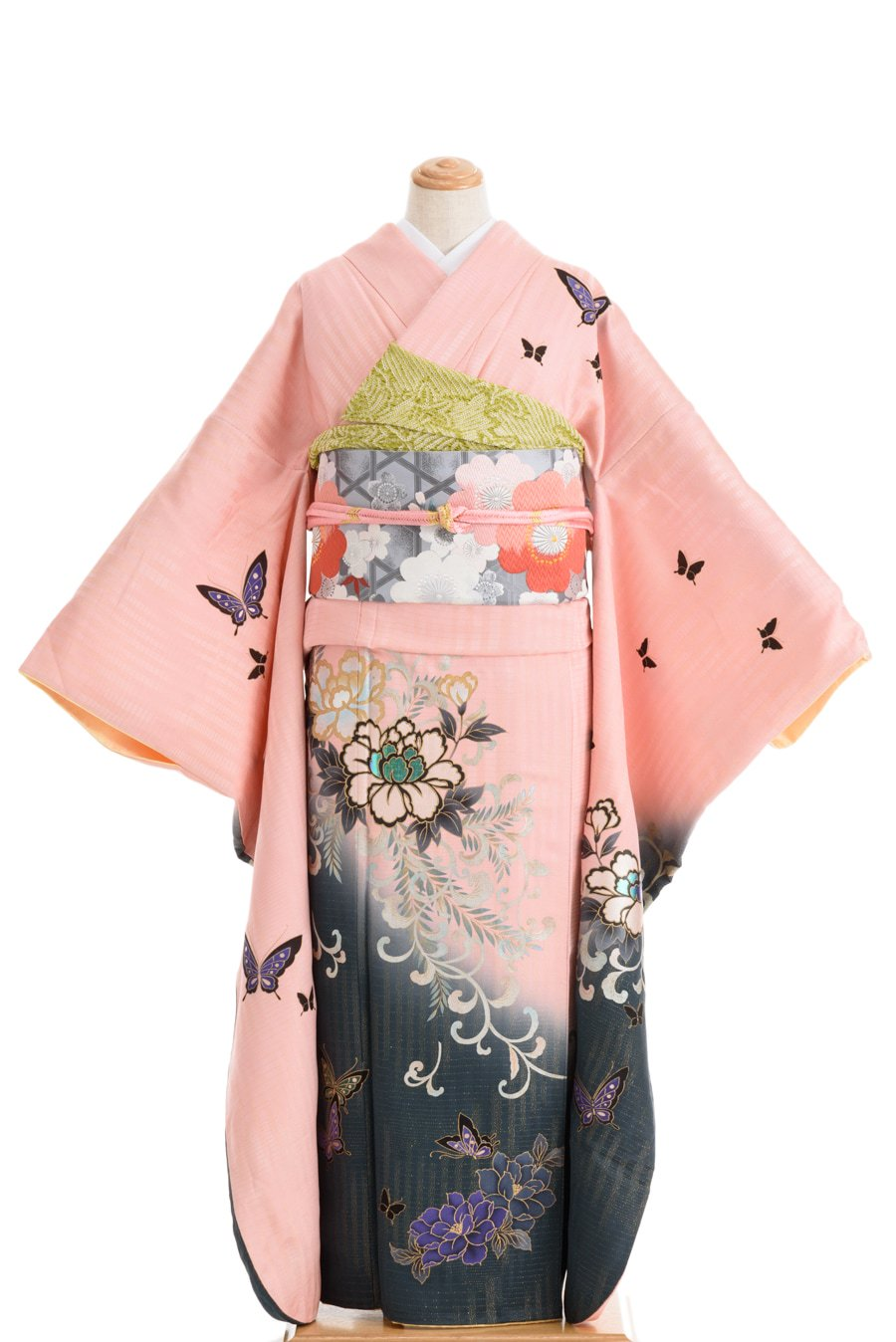 「トールサイズ振袖 牡丹と蝶々」の商品画像