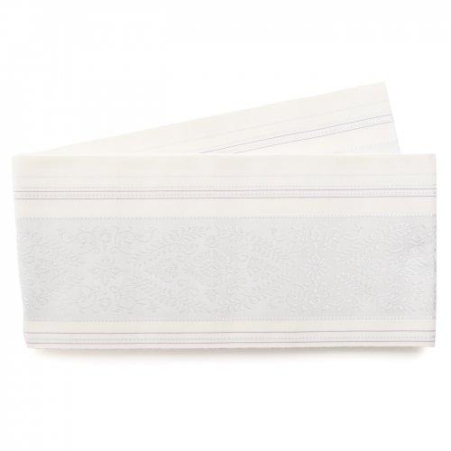 森博多織 花紋 白のサムネイル画像