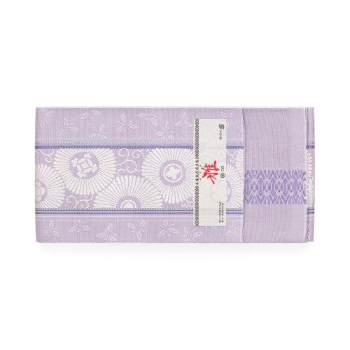 森博多織 長尺小袋帯 花笠唐草 菫色のサムネイル画像