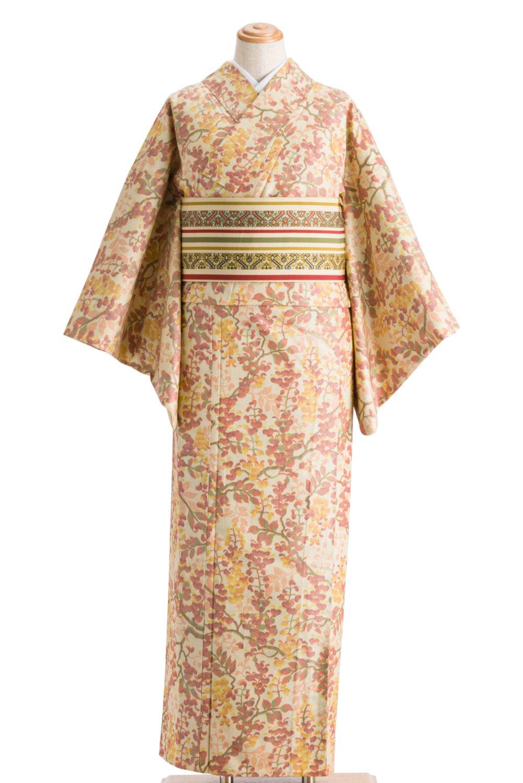 「単衣 紬 藤の花」の商品画像