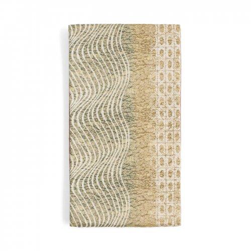 袋帯●格子に丸とうねる縞のサムネイル画像
