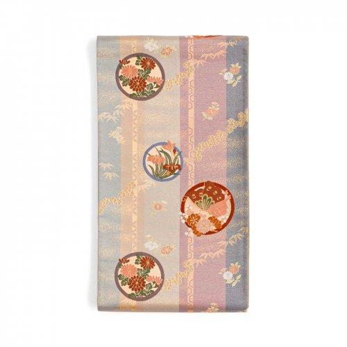 袋帯●丸に花と揚羽蝶のサムネイル画像