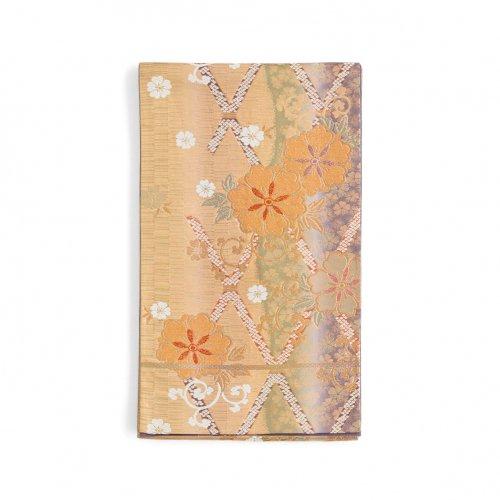 袋帯●格子桜のサムネイル画像