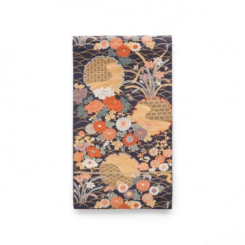 袋帯●金の雪輪と四季の花のサムネイル画像