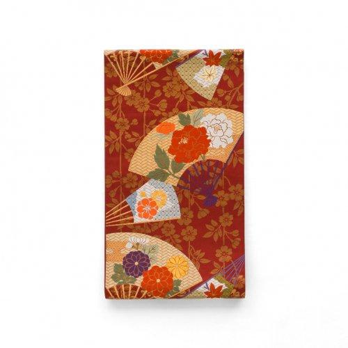 袋帯●扇に牡丹 菊 紅葉などのサムネイル画像