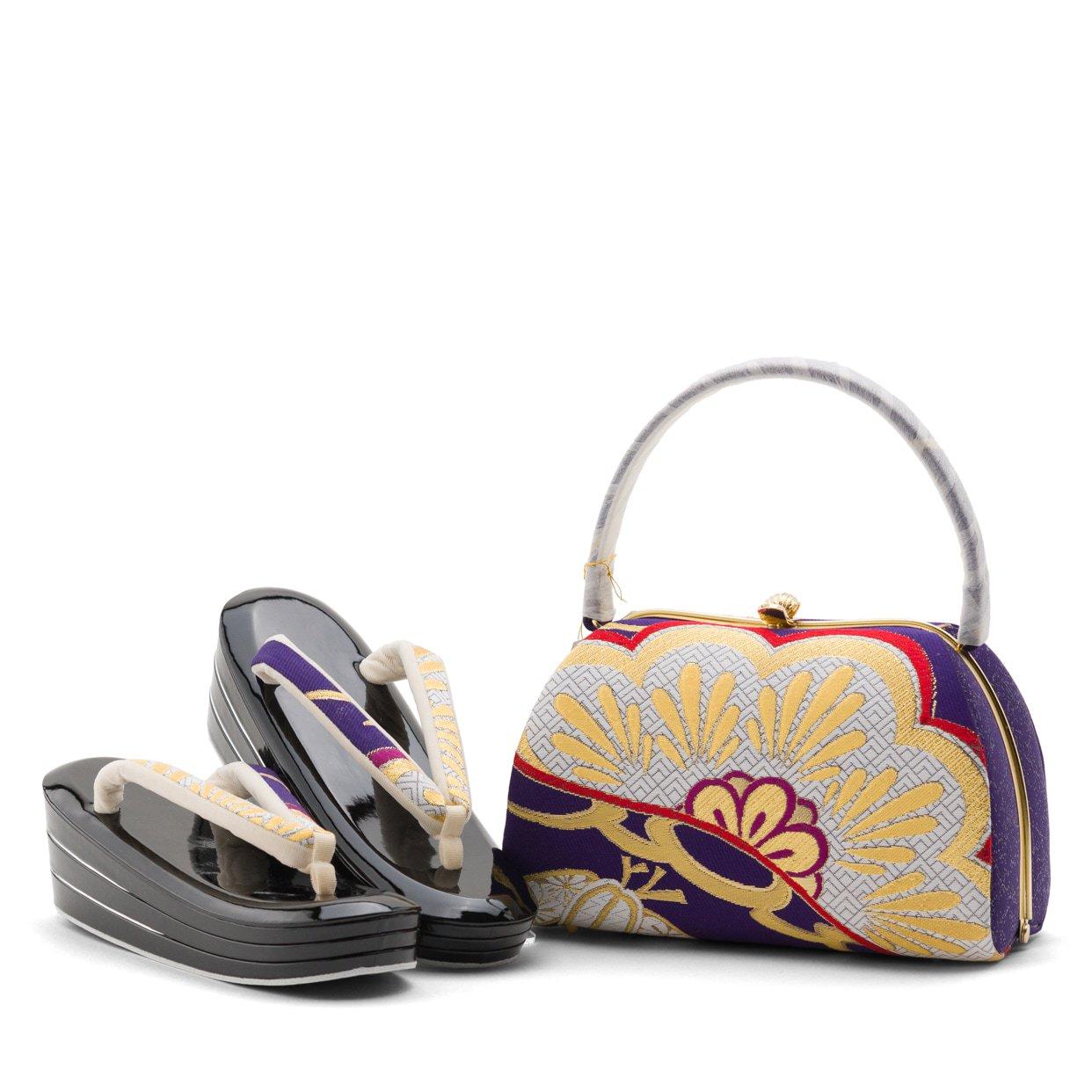 「アウトレット 西陣織 振袖用草履バッグセット 松」の商品画像