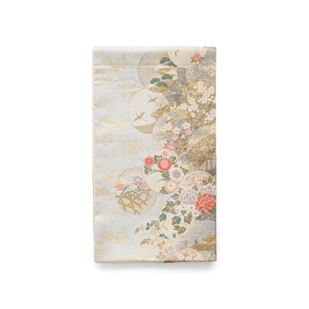 「袋帯●丸に花や鶴など」の商品画像