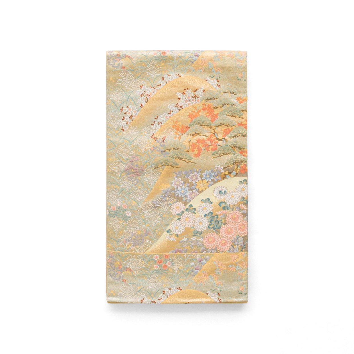 「袋帯●山並に四季花」の商品画像