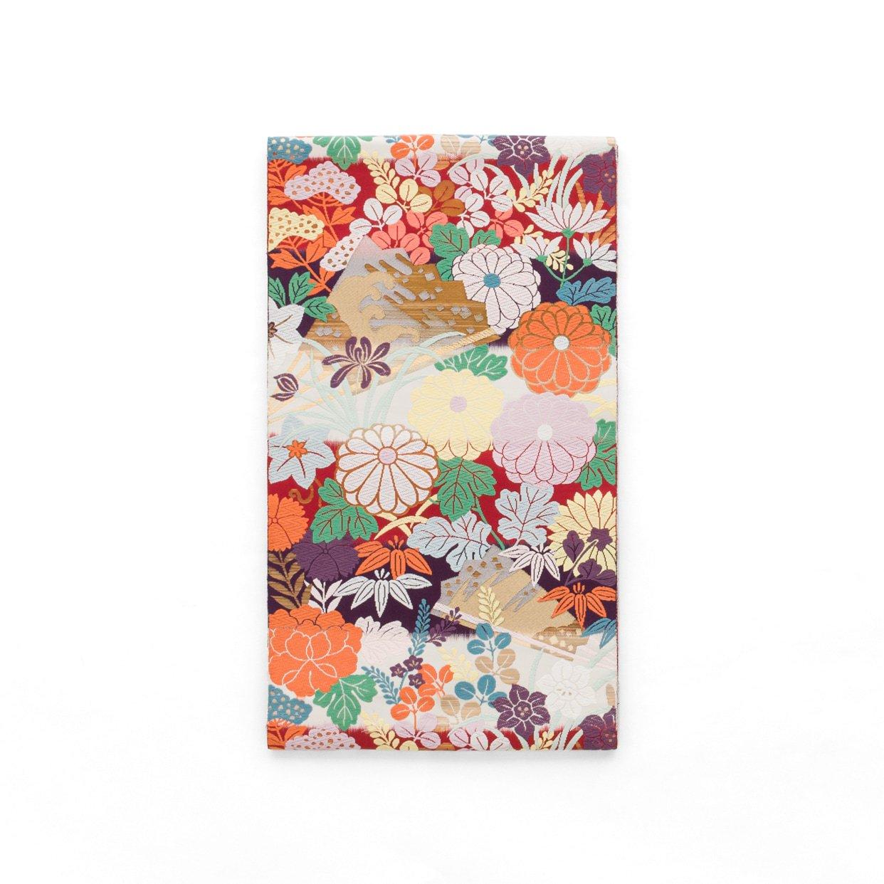 「袋帯●横段に菊 牡丹 萩など」の商品画像