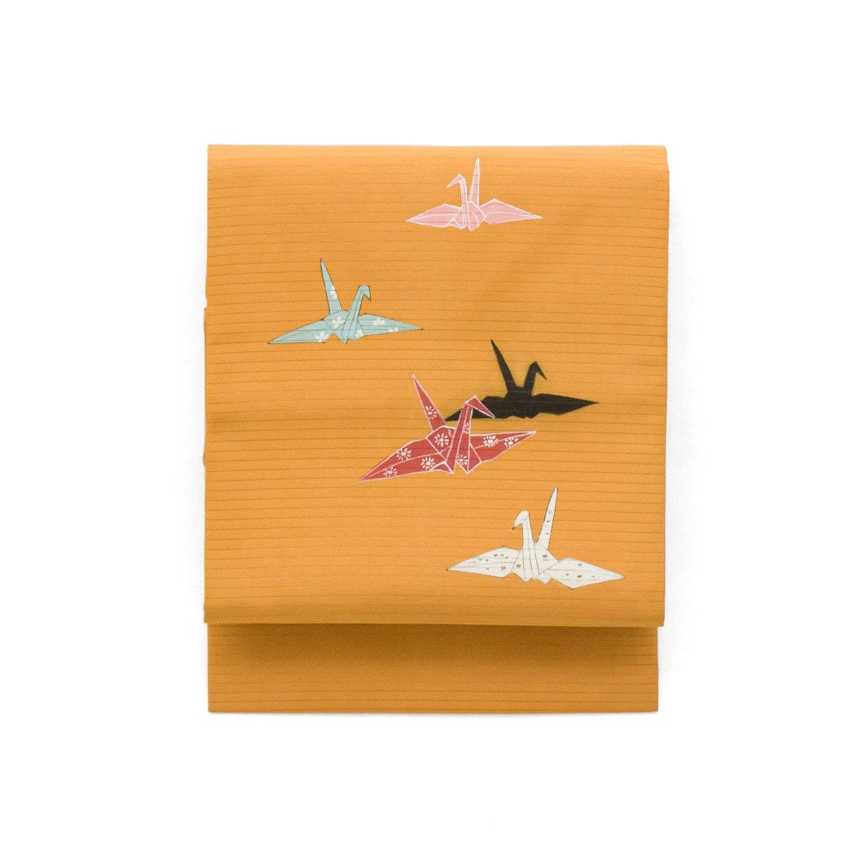 「夏帯 絽 折り鶴」の商品画像