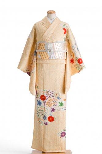 単衣 付け下げ訪問着 青海波と菊や紅葉のサムネイル画像