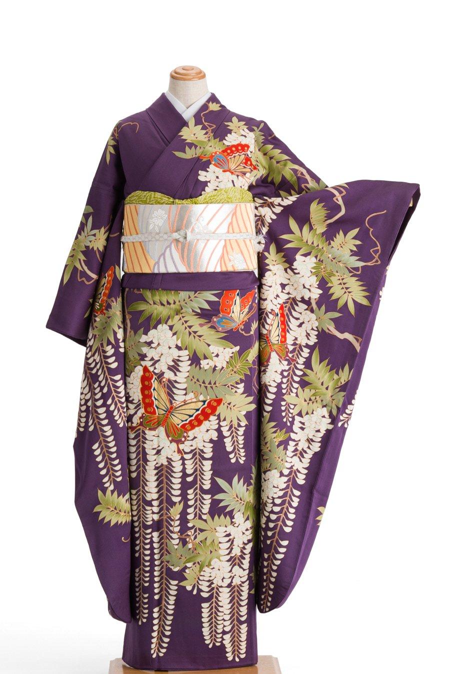 「振袖 藤に揚羽蝶」の商品画像
