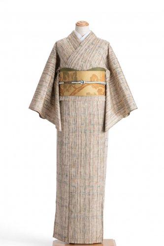 単衣 紬 ランダムカラーの縞のサムネイル画像