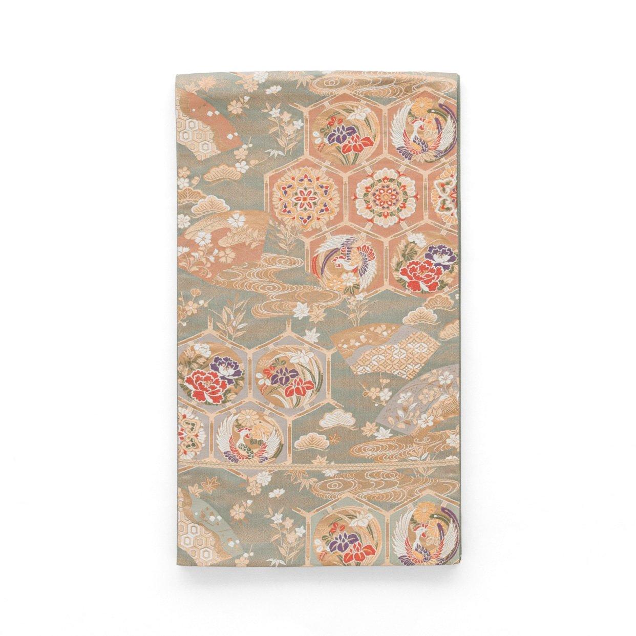 「袋帯●金亀甲に鶴や華紋」の商品画像