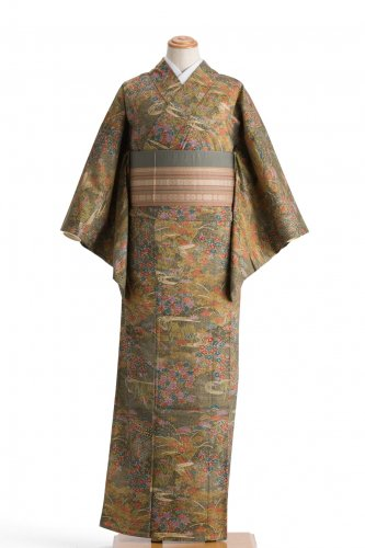 単衣 染紬 四季の花のサムネイル画像