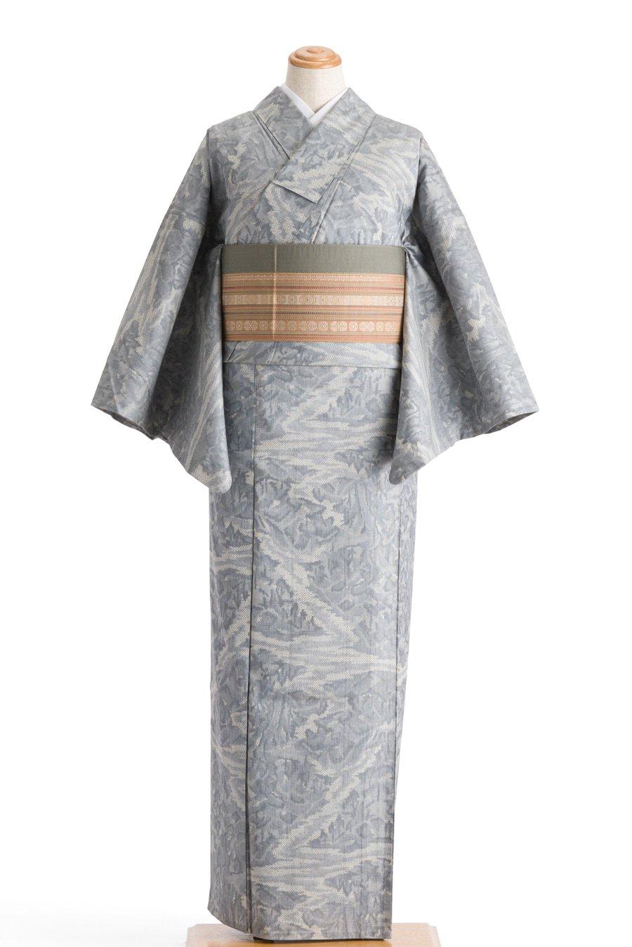「単衣 紬 山水画」の商品画像