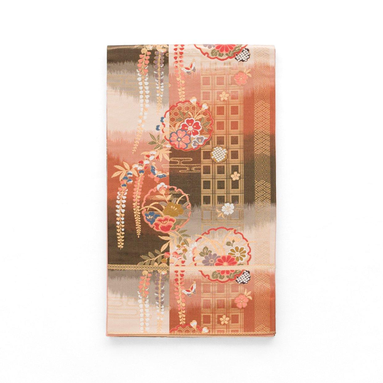 「袋帯●雪輪に桜 菊 藤など」の商品画像