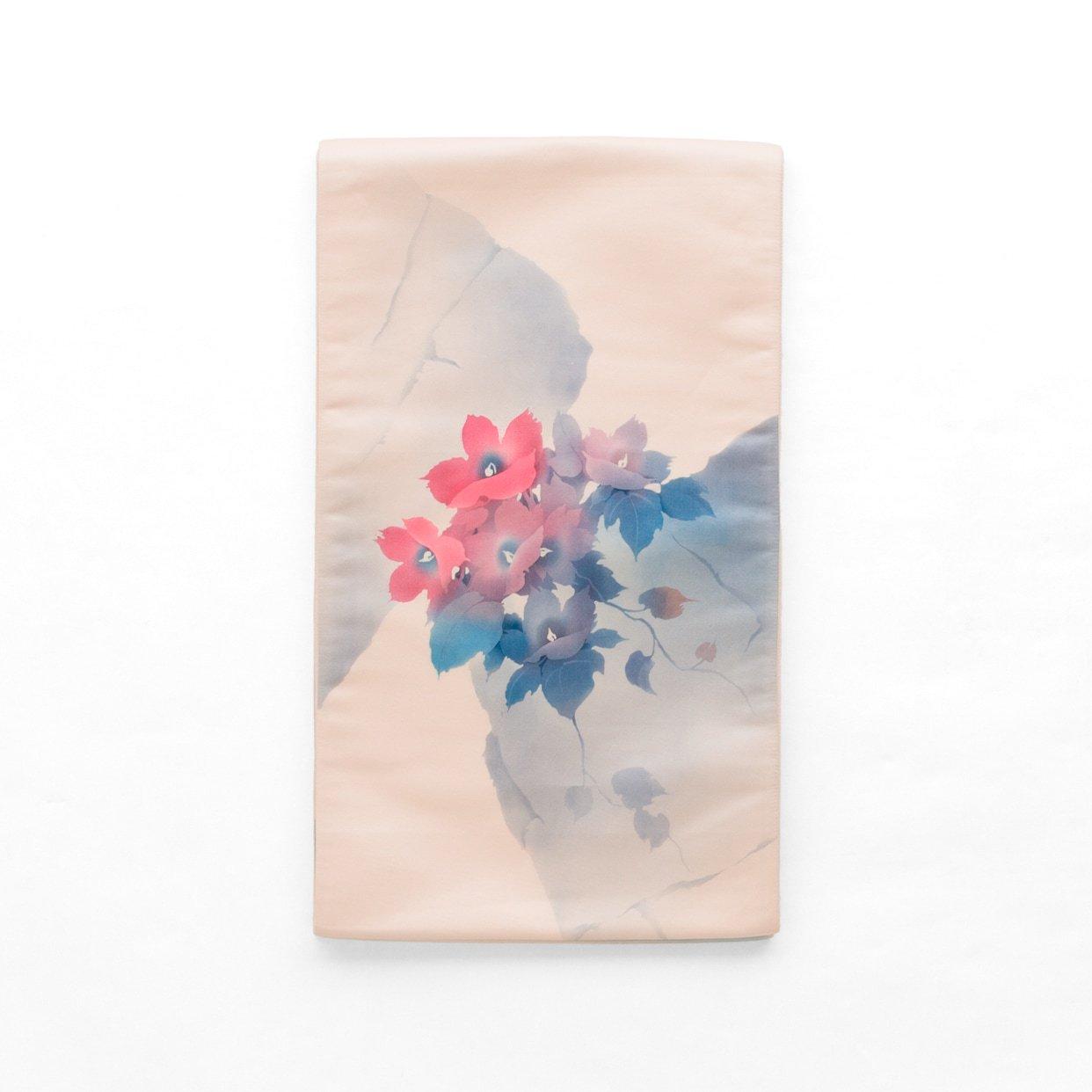 「袋帯●水彩風の花」の商品画像